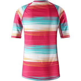 Reima Ionian Camiseta de natación Niñas, candy pink/streifen